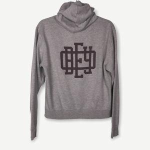 Obey Gray Logo Pullover Cotton Hoodie Medium